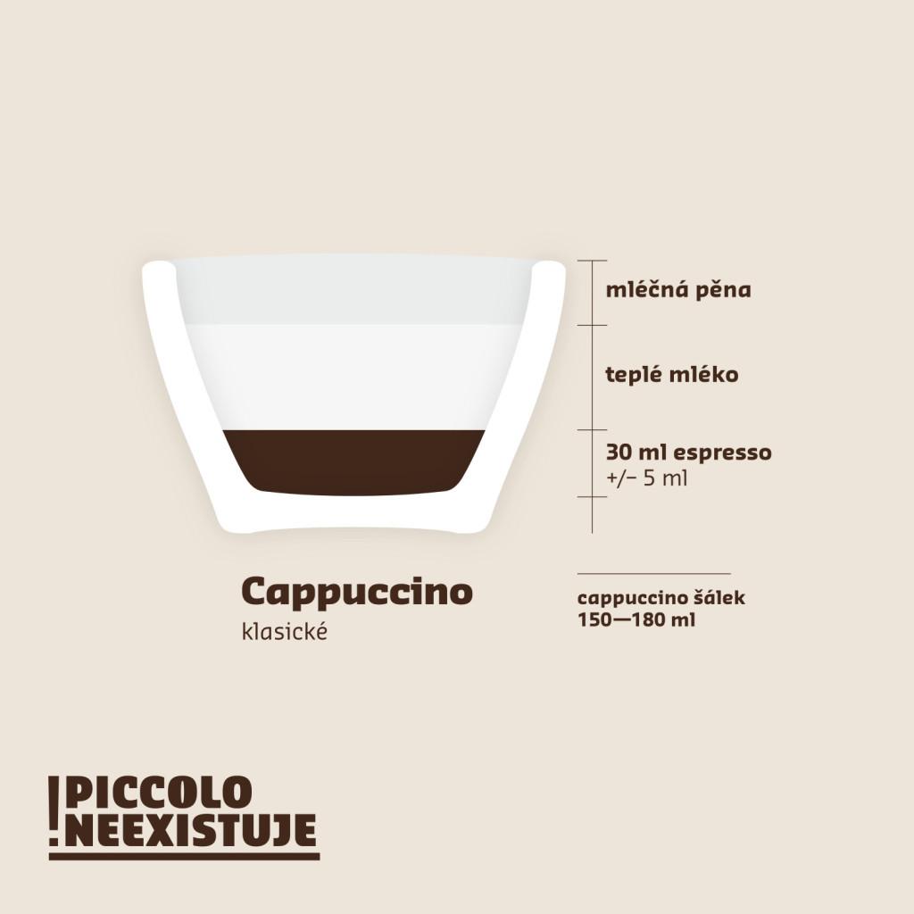 Cappucino klasické návod