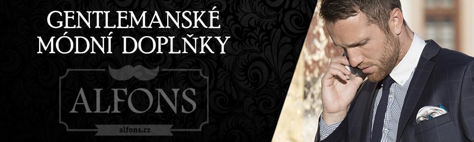 Gentlemanský obchod s módními doplňky Alfons.cz - kravaty, motýlky a další super móda pro muže