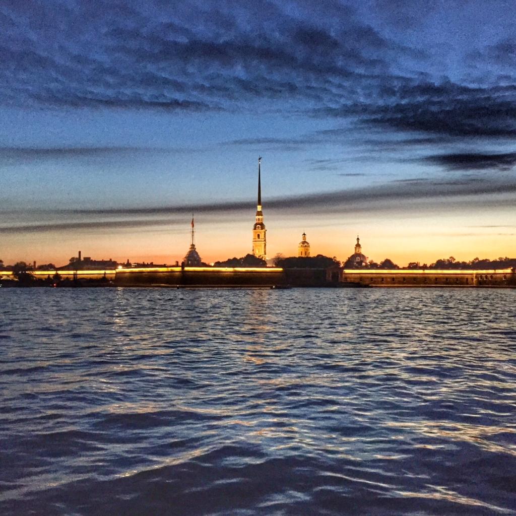 Projížďka na lodi Petrohradem