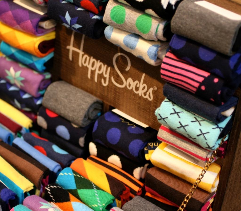 Barevné ponožky. Zdroj: Oficiální Happy Socks facebook