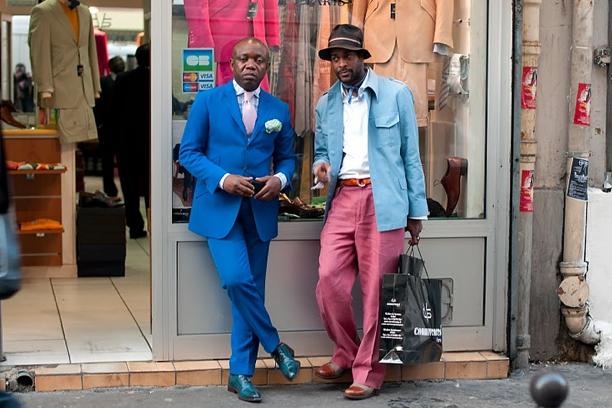 Pánské elegantní outfity v Kongu. Zdroj: http://agnautacouture.com/